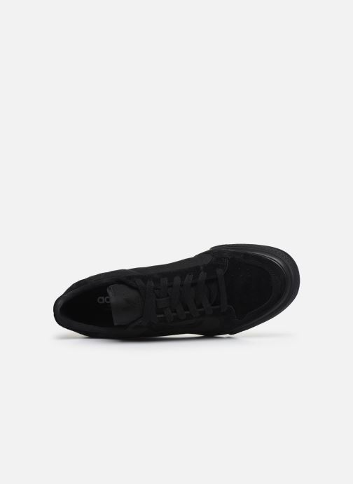Sneaker adidas originals Continental Vulc schwarz ansicht von links