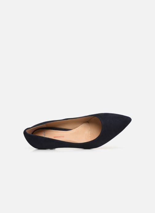Zapatos de tacón Perlato 10970 Azul vista lateral izquierda