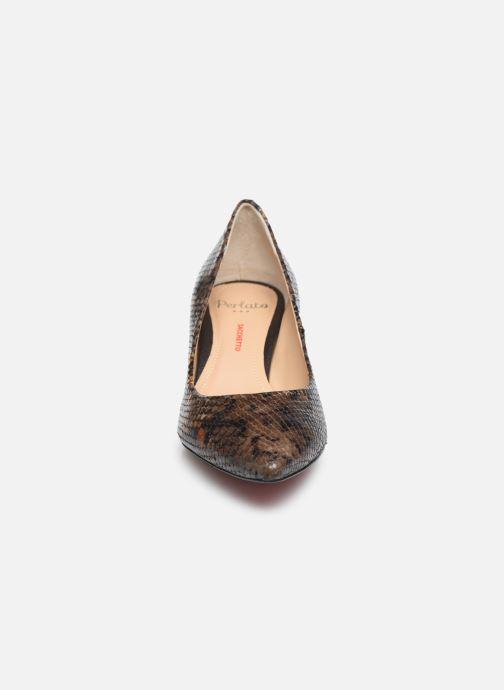 Escarpins Perlato 10970 Marron vue portées chaussures