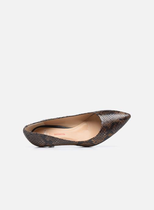 Zapatos de tacón Perlato 10970 Marrón vista lateral izquierda