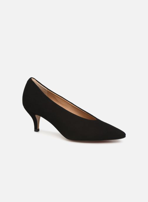 High heels Perlato 10973 Black detailed view/ Pair view