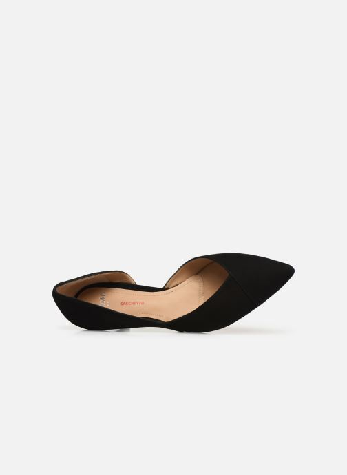 High heels Perlato 11313 Black view from the left
