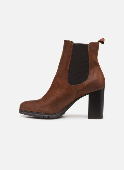 Ankle boots Perlato 11273 Brown front view
