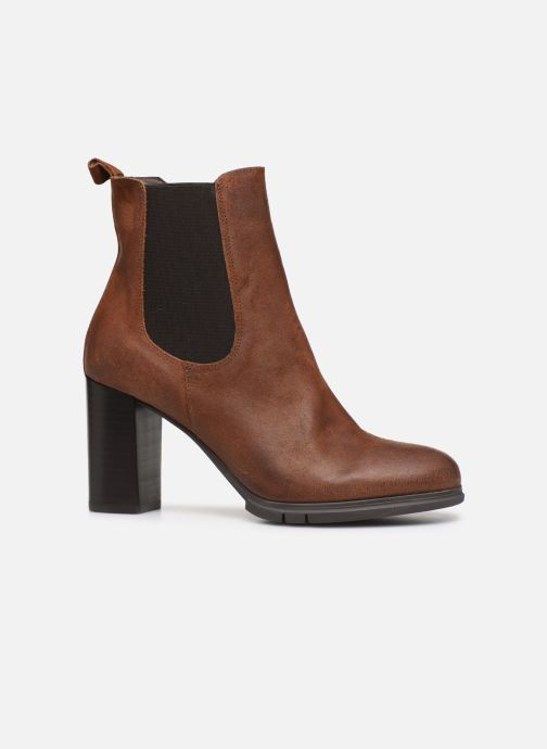 Ankle boots Perlato 11273 Brown back view