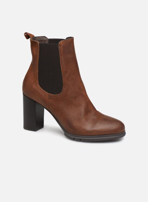 Ankle boots Perlato 11273 Brown detailed view/ Pair view
