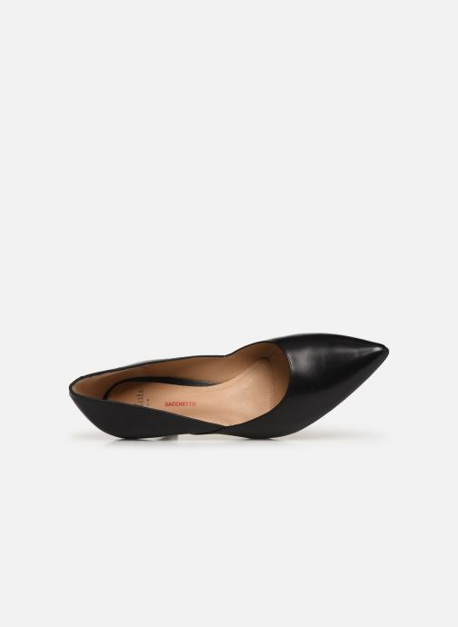 High heels Perlato 10974 Black view from the left