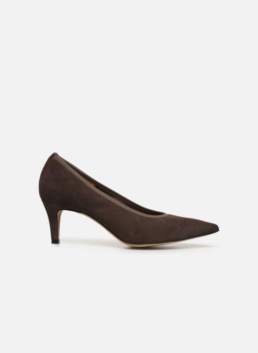 High heels Perlato 9330 Brown back view