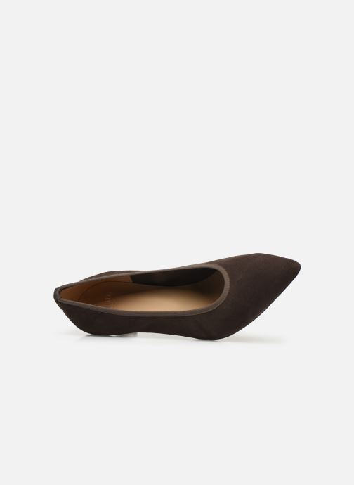 High heels Perlato 9330 Brown view from the left