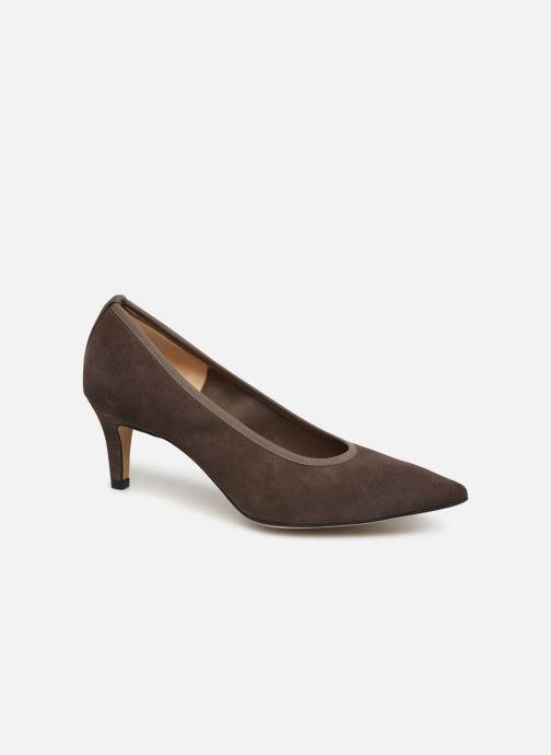 High heels Perlato 9330 Brown detailed view/ Pair view