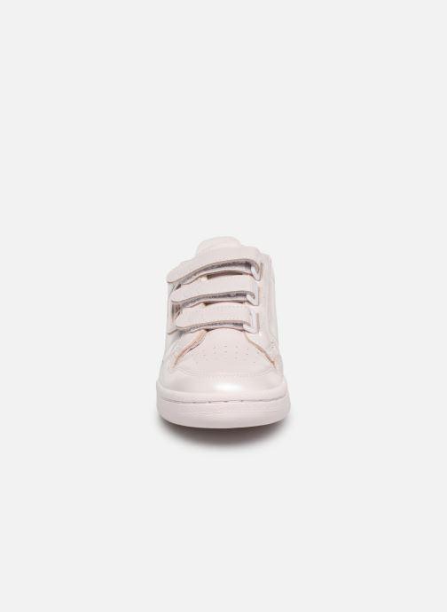 Baskets adidas originals Continental 80 Strap W Rose vue portées chaussures