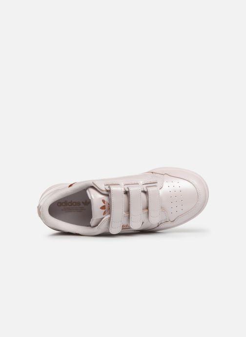 Baskets adidas originals Continental 80 Strap W Rose vue gauche