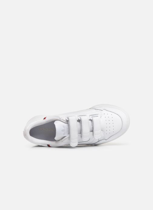 Baskets adidas originals Continental 80 Strap W Blanc vue gauche