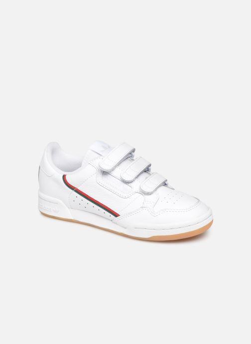 Baskets adidas originals Continental 80 Strap W Blanc vue détail/paire