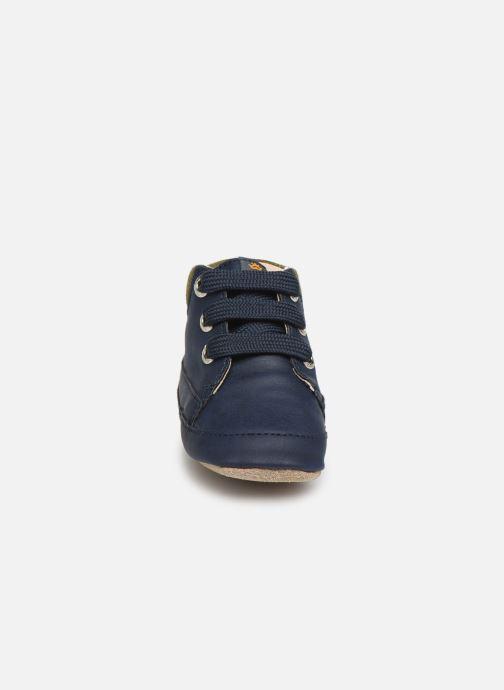 Hausschuhe Shoesme Jaap blau schuhe getragen