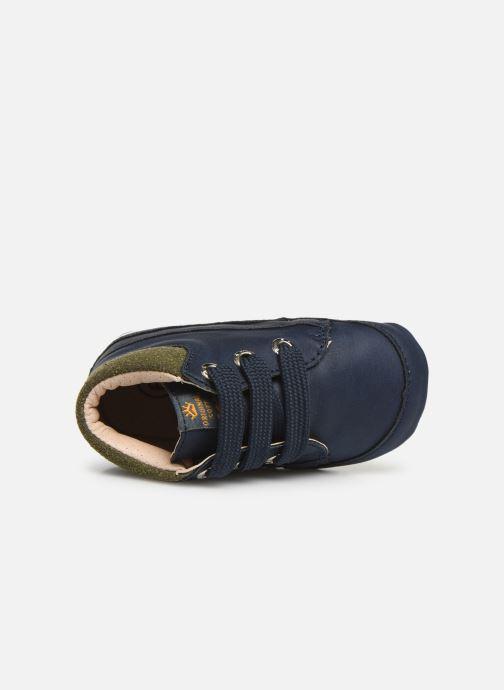 Pantuflas Shoesme Jaap Azul vista lateral izquierda