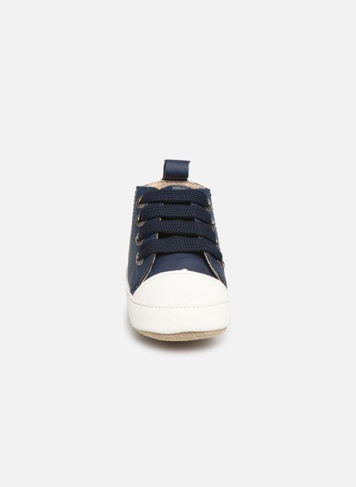 Pantofole Shoesme Johan Azzurro modello indossato