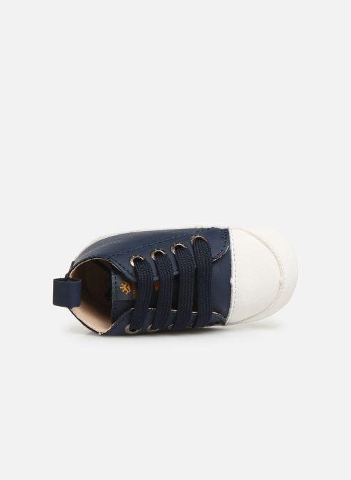 Pantoffels Shoesme Johan Blauw links