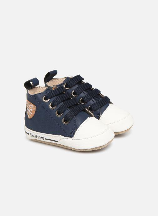 Hjemmesko Shoesme Johan Blå detaljeret billede af skoene