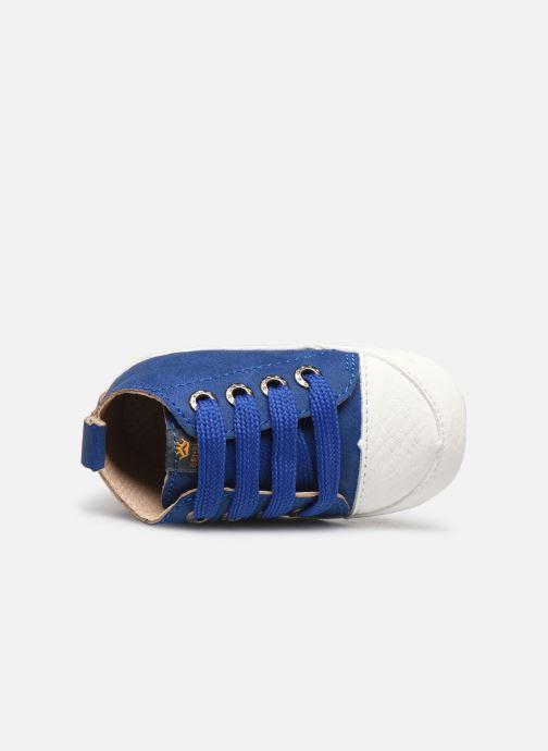 Pantuflas Shoesme Johan Azul vista lateral izquierda