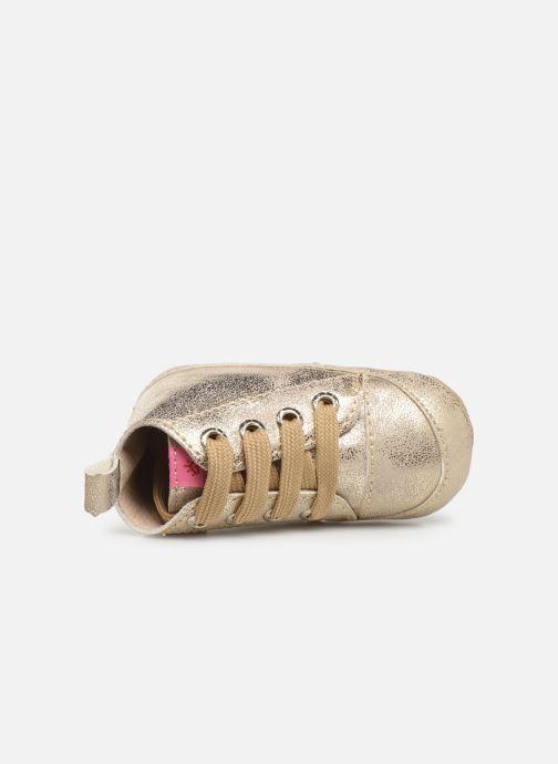 Chaussons Shoesme Jale Or et bronze vue gauche