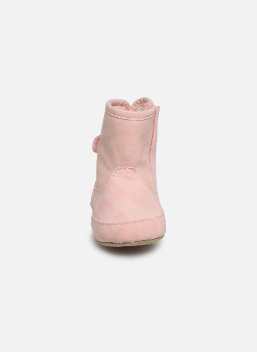 Pantuflas Shoesme Jur warm Rosa vista del modelo
