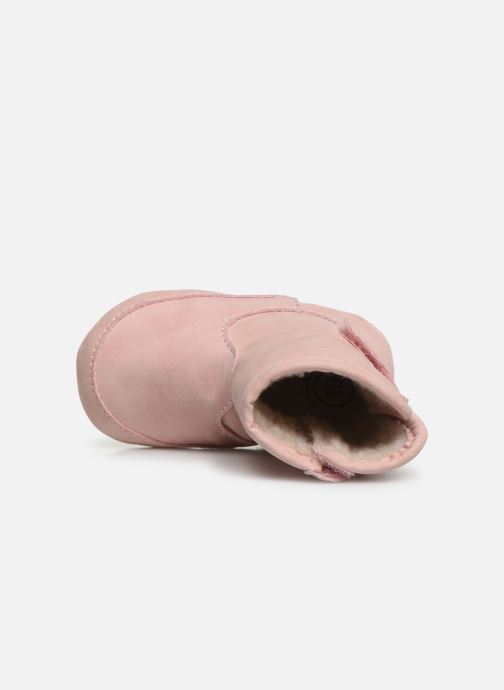 Pantuflas Shoesme Jur warm Rosa vista lateral izquierda