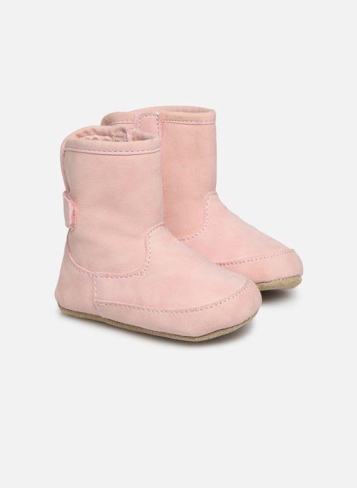 Hjemmesko Shoesme Jur warm Pink detaljeret billede af skoene