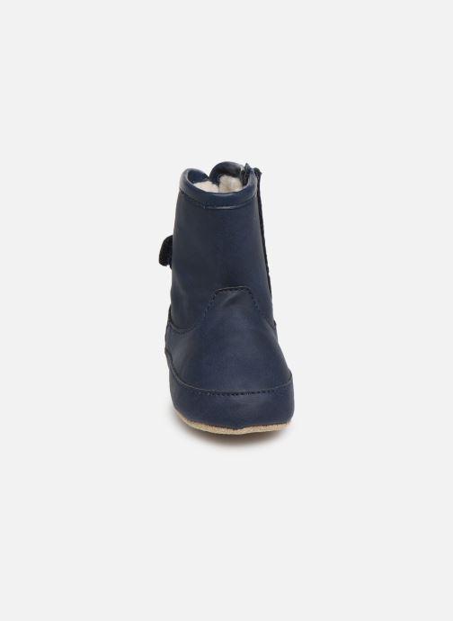 Pantuflas Shoesme Jur warm Azul vista del modelo