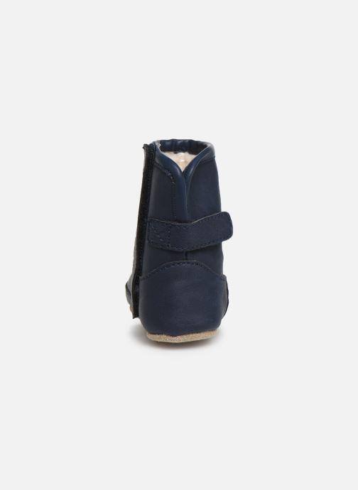 Pantuflas Shoesme Jur warm Azul vista lateral derecha