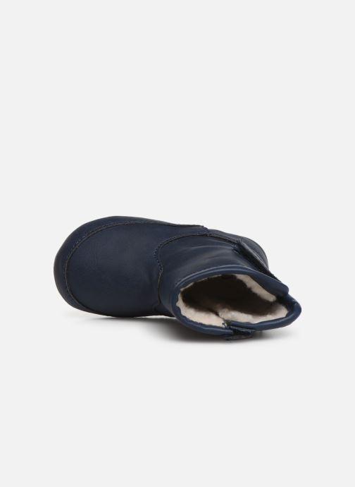 Pantuflas Shoesme Jur warm Azul vista lateral izquierda