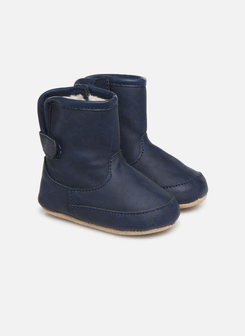 Chaussons Shoesme Jur warm Bleu vue détail/paire