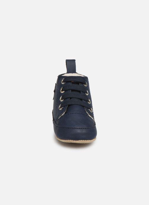 Chaussons Shoesme Joos warm Bleu vue portées chaussures
