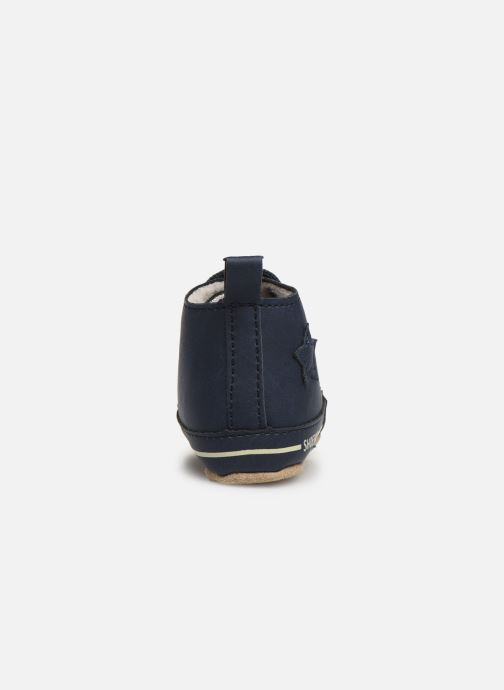 Chaussons Shoesme Joos warm Bleu vue droite