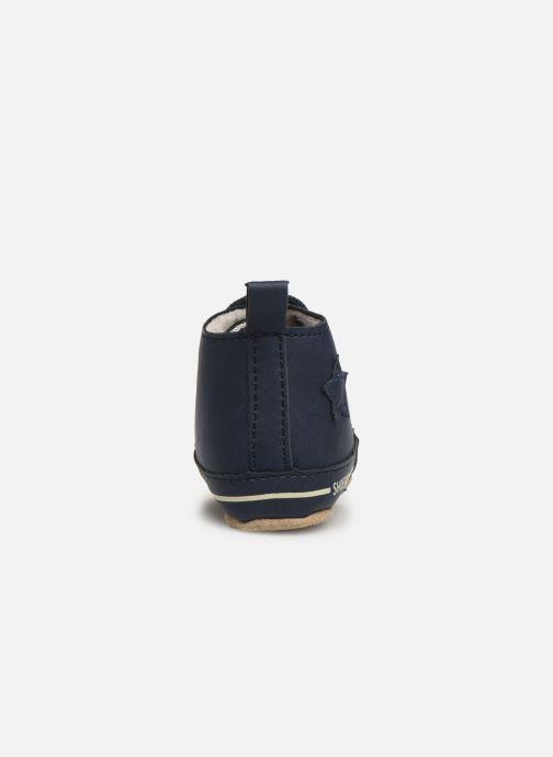 Pantuflas Shoesme Joos warm Azul vista lateral derecha
