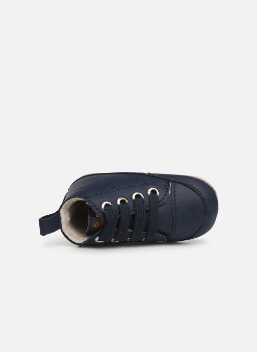 Pantuflas Shoesme Joos warm Azul vista lateral izquierda