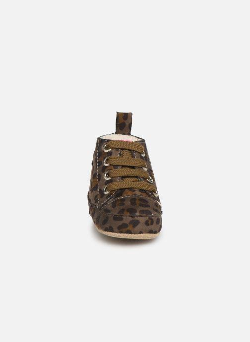 Pantofole Shoesme Joos warm Grigio modello indossato