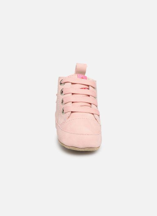 Pantofole Shoesme Joos warm Rosa modello indossato