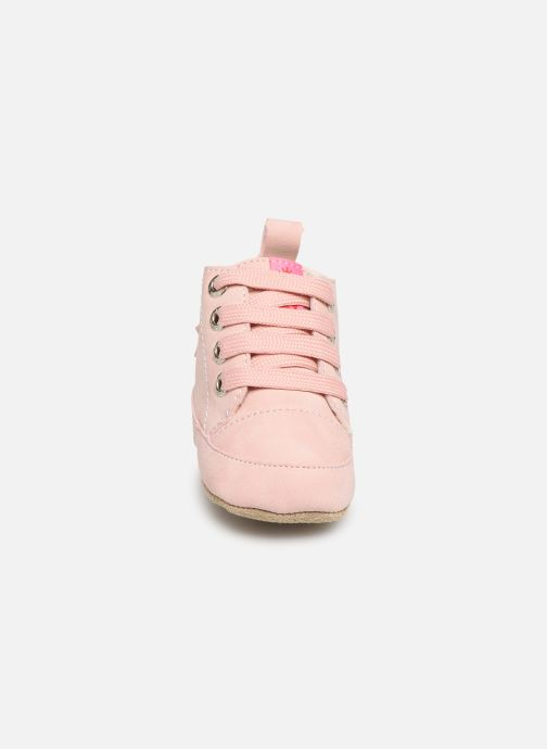 Chaussons Shoesme Joos warm Rose vue portées chaussures
