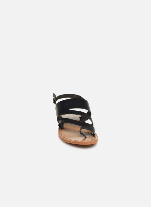 Sandals White Sun Viola Black model view