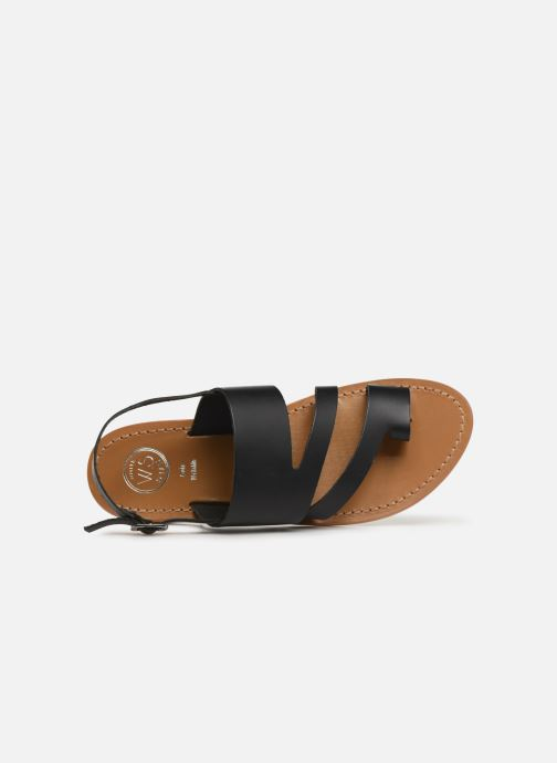 Sandals White Sun Viola Black view from the left