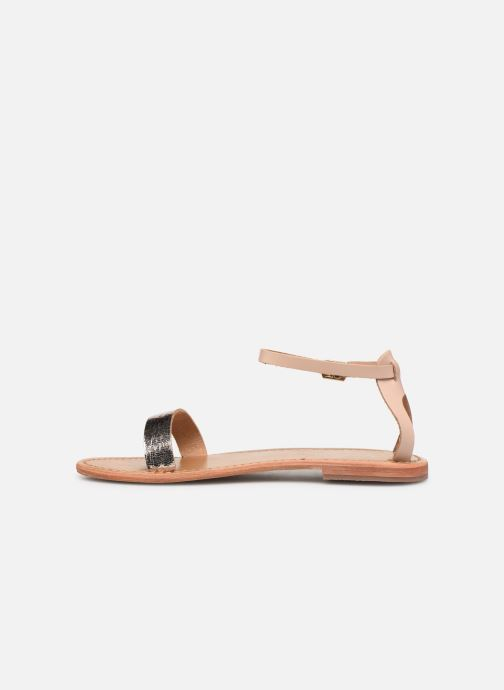 Sandals White Sun Hianna Bronze and Gold front view