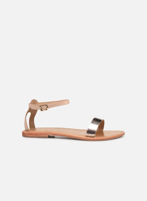 Sandals White Sun Hianna Bronze and Gold back view