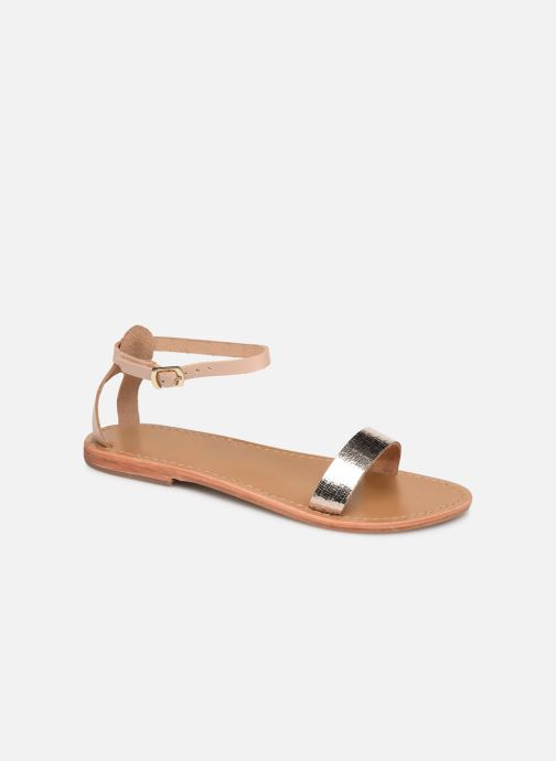 Sandals White Sun Hianna Bronze and Gold detailed view/ Pair view