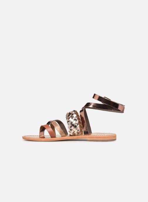Sandals White Sun Colorata Bronze and Gold front view