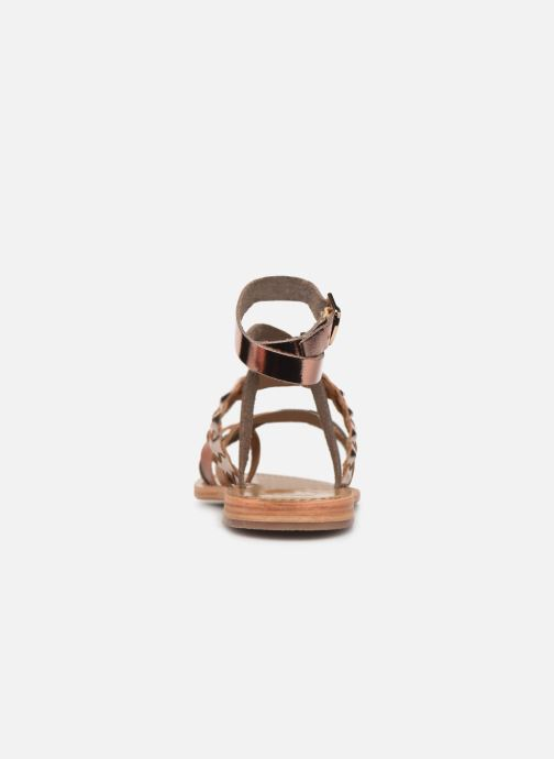 Sandals White Sun Colorata Bronze and Gold view from the right