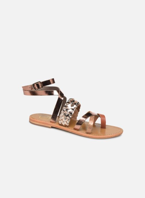 Sandals White Sun Colorata Bronze and Gold detailed view/ Pair view