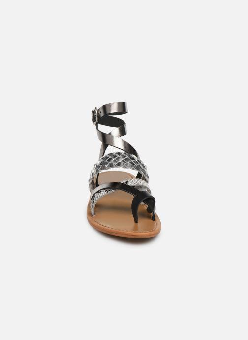 Sandals White Sun Colorata Black model view