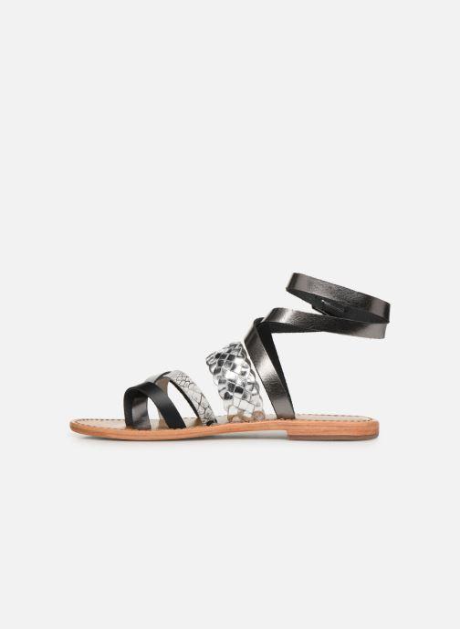 Sandales et nu-pieds White Sun Colorata Noir vue face