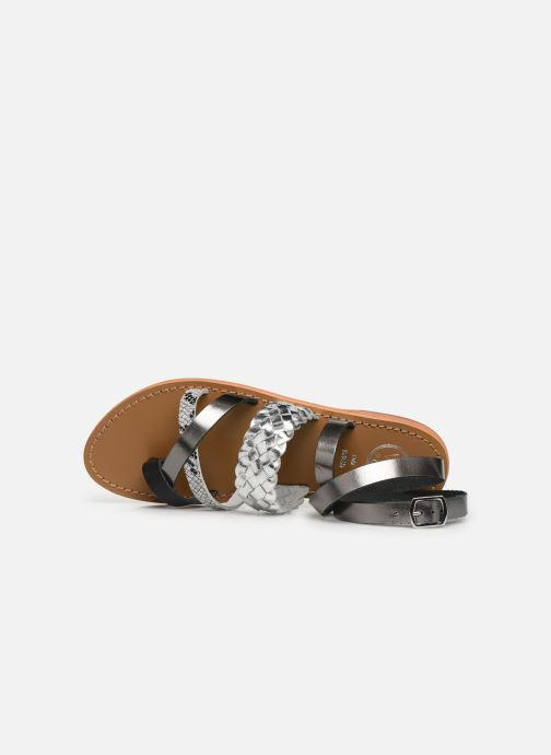 Sandals White Sun Colorata Black view from the left