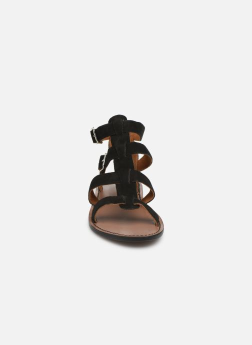 Sandales et nu-pieds White Sun Libertia Noir vue portées chaussures